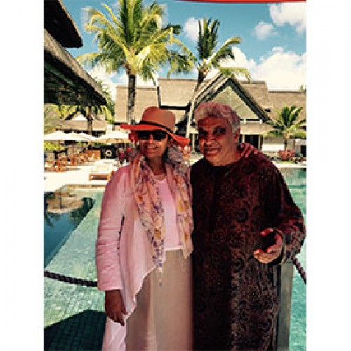 Constance Le Prince Maurice hosts star couple Shabana Azmi and Javed Akhtar