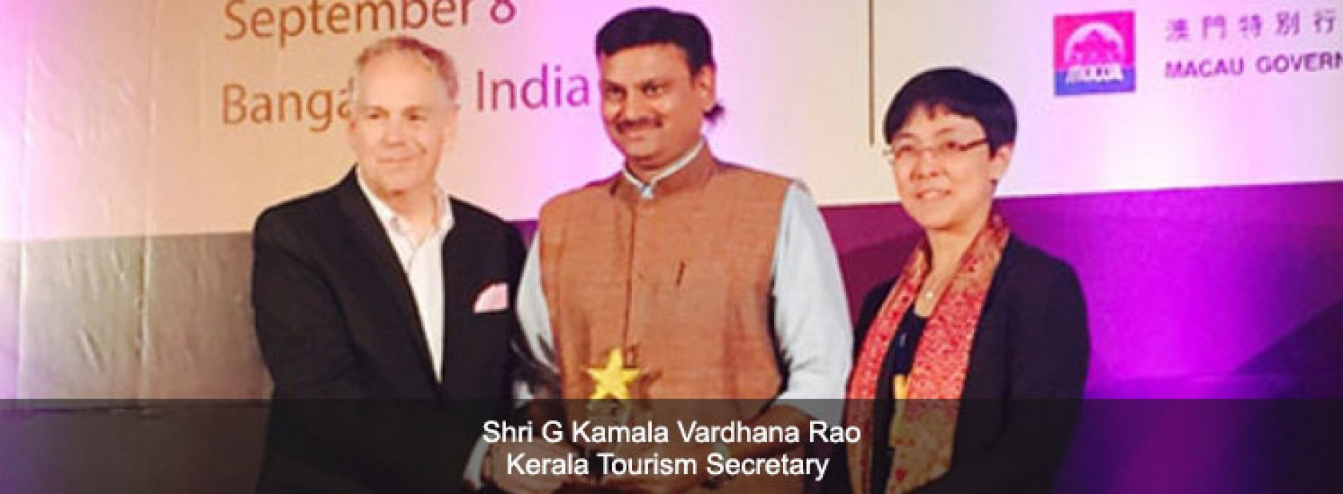 Muziris wins PATA Gold Honour for Kerala Tourism