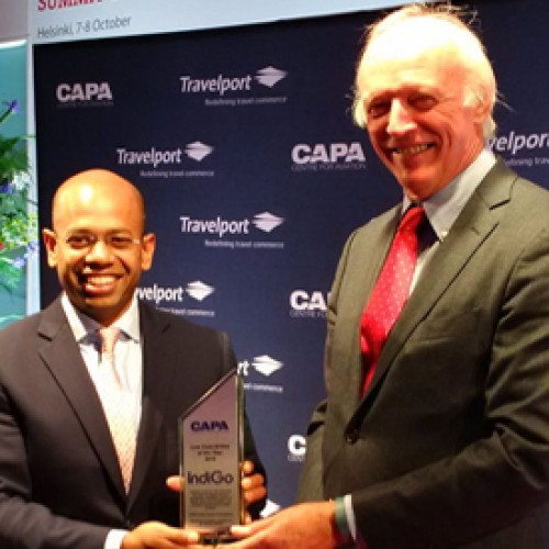 IndiGo pronounced 'CAPA Global Low Cost Carrier of the Year' at World Aviation Summit 2015