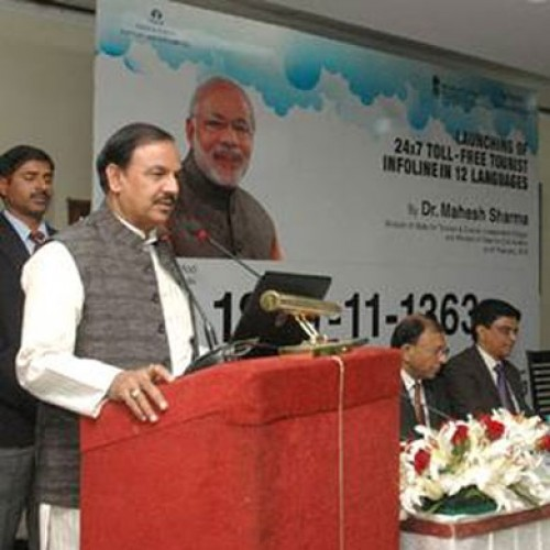 Dr. Mahesh Sharma launches 24×7 toll free tourist Infoline in 12 international languages