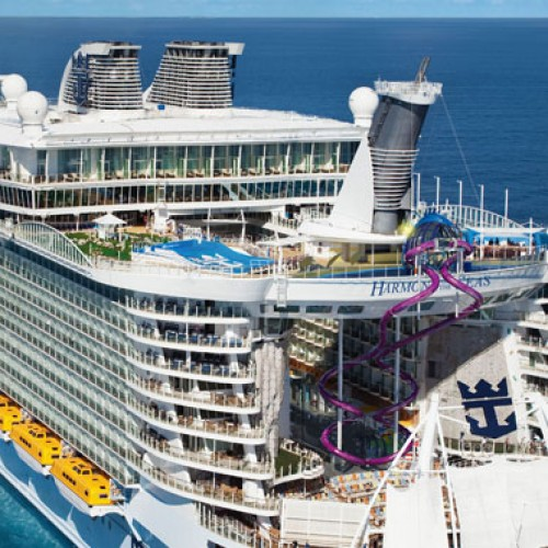 Maiden voyage of Harmony of the Seas, the world's largest cruise ship