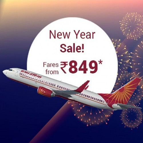 Air India New Year Sale: All-Inclusive Rs. 849 Tickets on offer