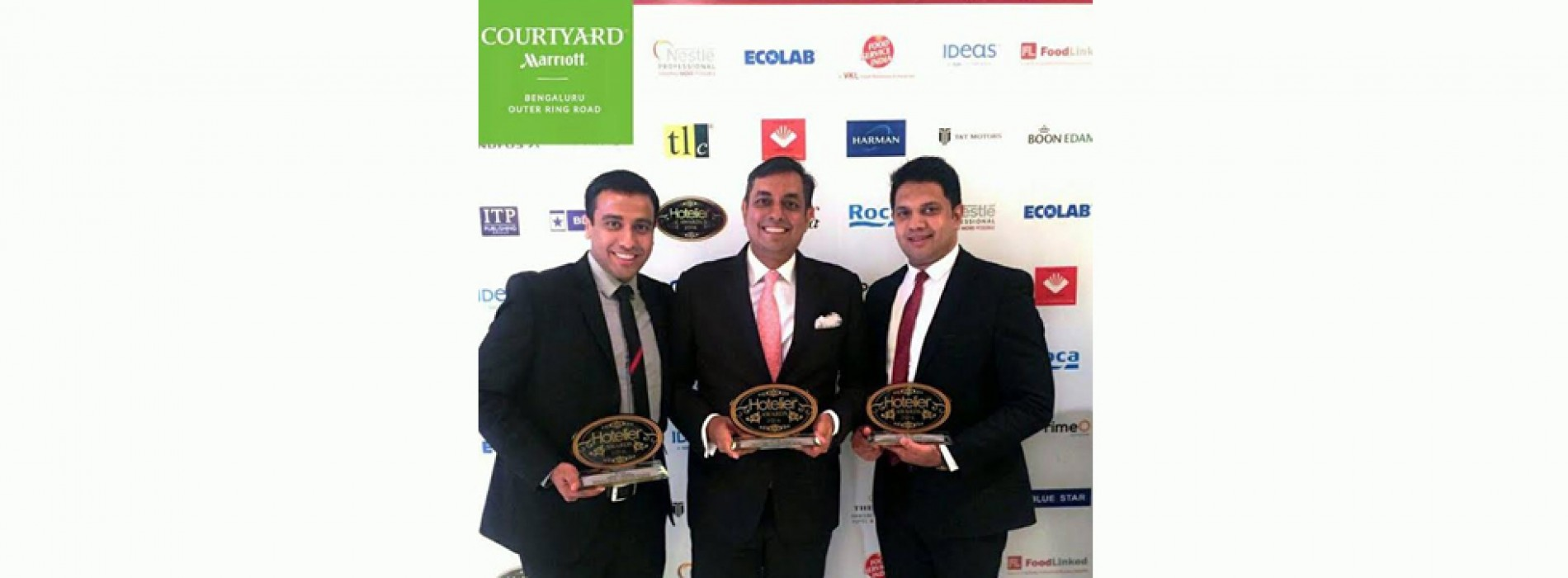 Courtyard by Marriott and Fairfield by Marriott Outer Ring Road, win at the 'Hotelier India Awards' 2016