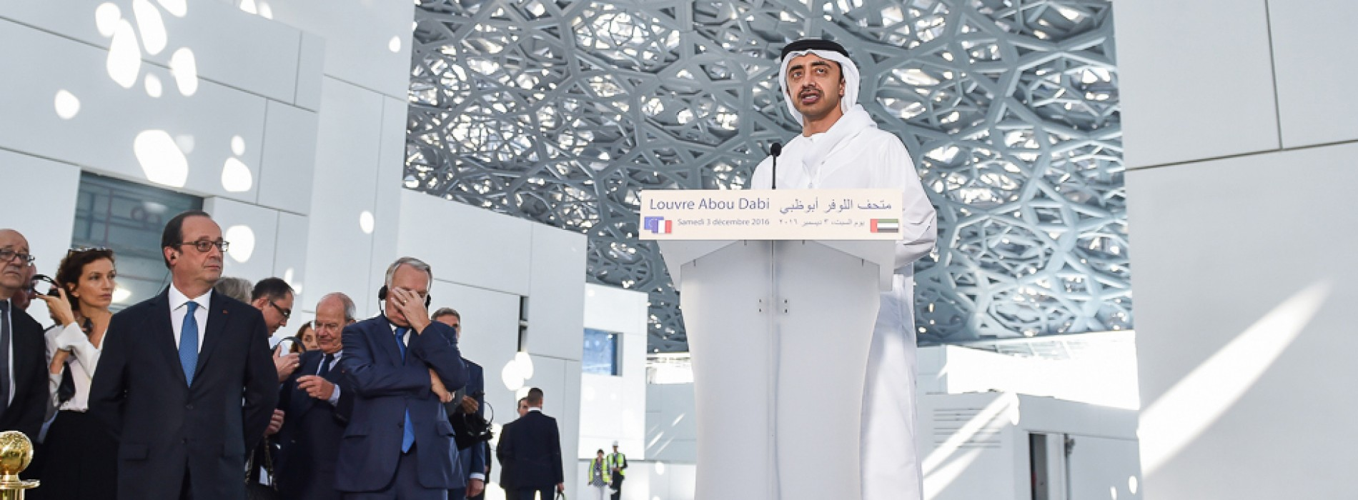 French President tours Louvre Abu Dhabi