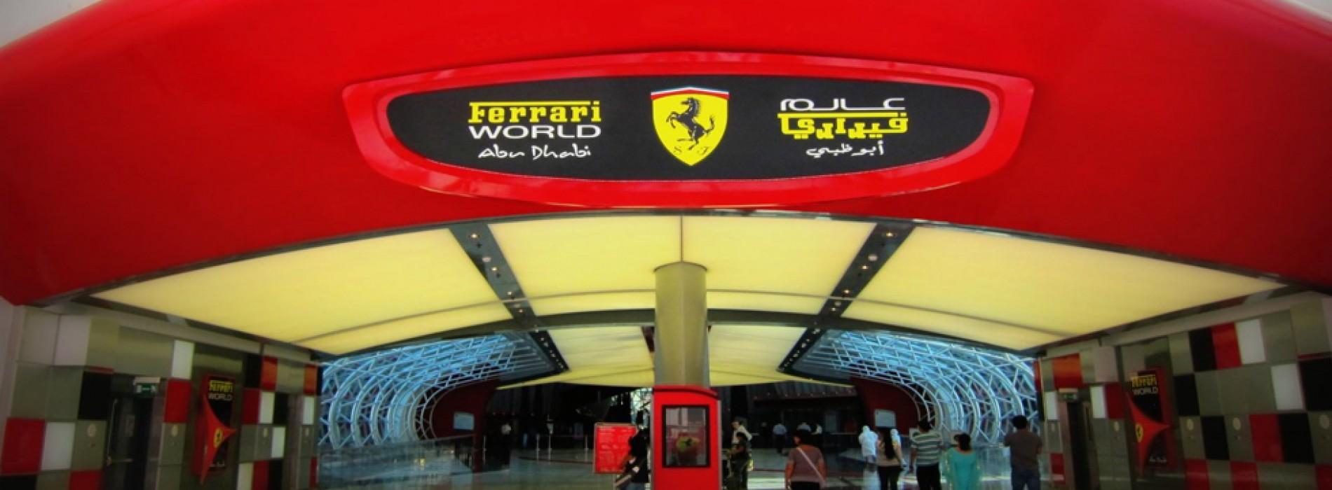 Drive around Yas Island in a Ferrari