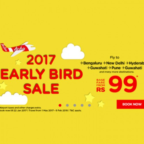 AirAsia launches Early Bird Sale with tickets starting at Rs 99