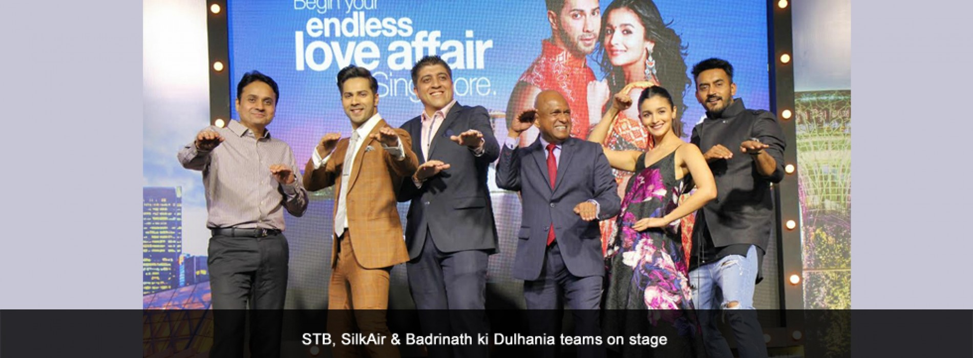 Badrinath and his Dulhania celebrate their endless love affair with Singapore and SilkAir