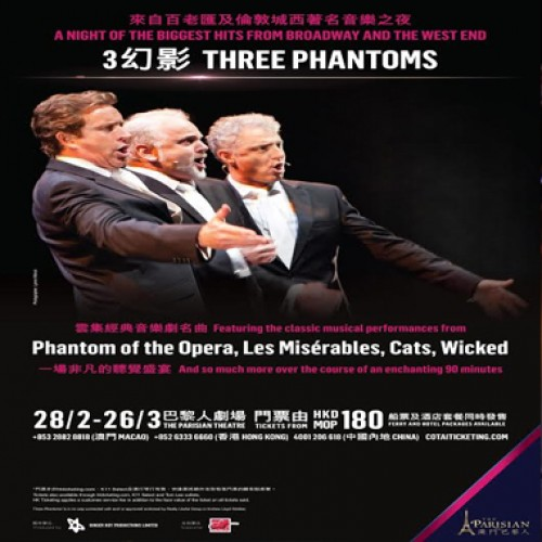 Three Phantoms to bring world-class evening of musical theatre to the Parisian Macao