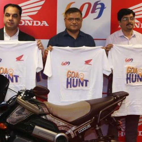 Hon'ble Minister for Tourism, Govt. of Goa, Manohar Azgaonkar flags off GTDC – Honda NAVi Goa Hunt 2017 event