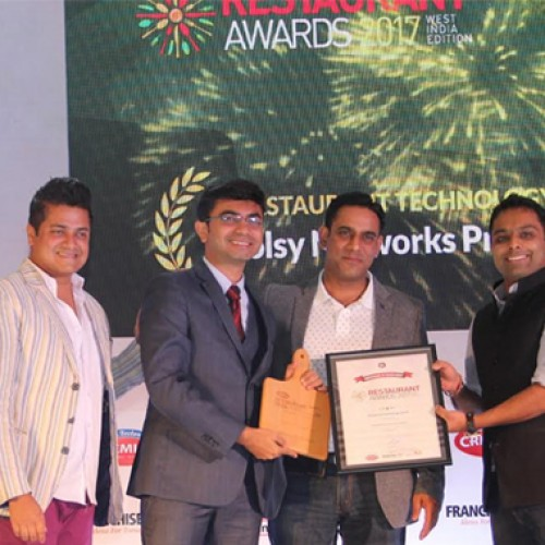 Voolsy wins the 'Restaurant Technology Award – 2017' by Restaurant India