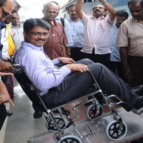 In a first, Central Rly Station introduces portable ramps, wheelchairs