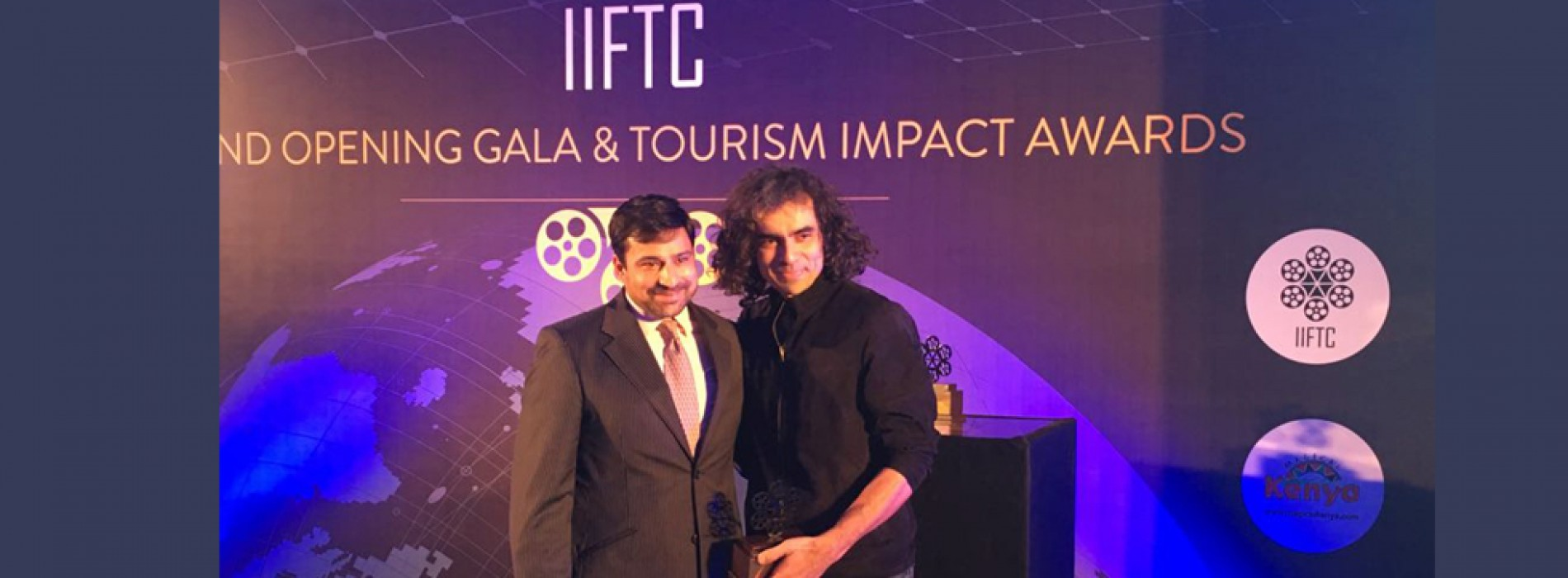 Kenya Tourism Board felicitates film maker Imtiaz Ali with IIFTC Tourism Impact Awards