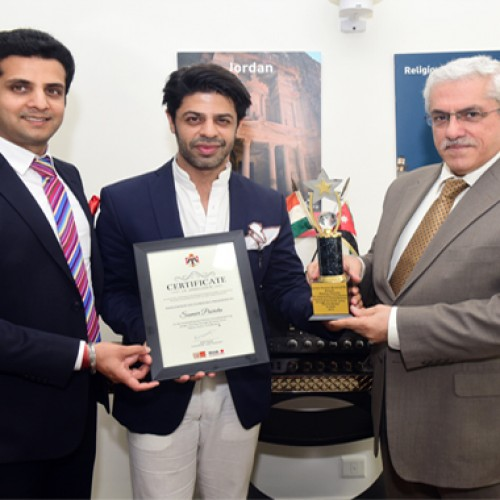 Jordan Tourism Board awards Certificate of Appreciation to Pammi Aunty