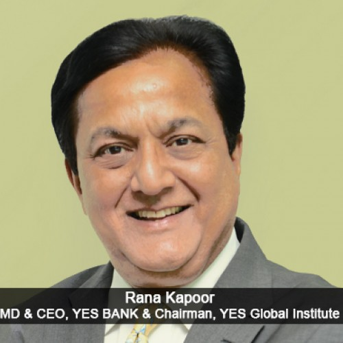 Most Outstanding Contribution to Tourism  Rana Kapoor, MD & CEO, YES BANK & Chairman, YES Global Institute