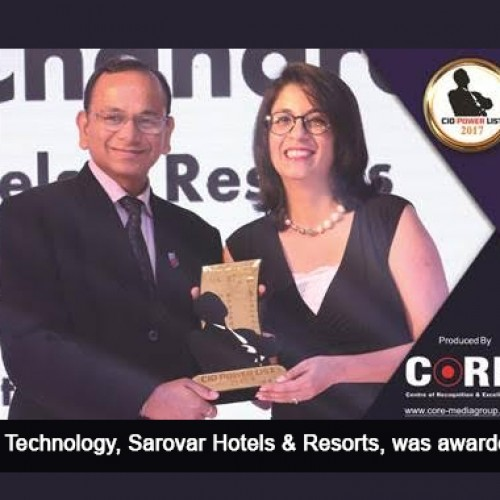 Harish Chanra, GM-IT, Sarovar Hotels named Travel & Hospitality Icon in the 3rd Edition of CIO POWER LIST