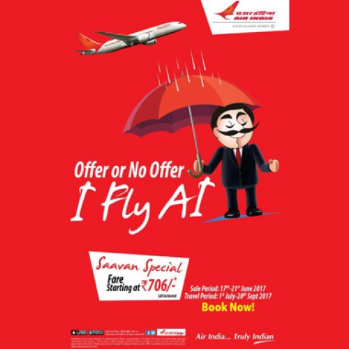 Air India offers 'Saavan Special' sale with tickets starting Rs. 706