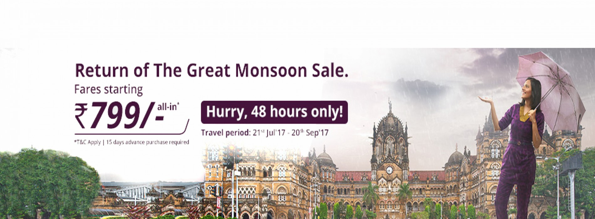 Vistara opens monsoon sale offers tickets starting Rs. 799