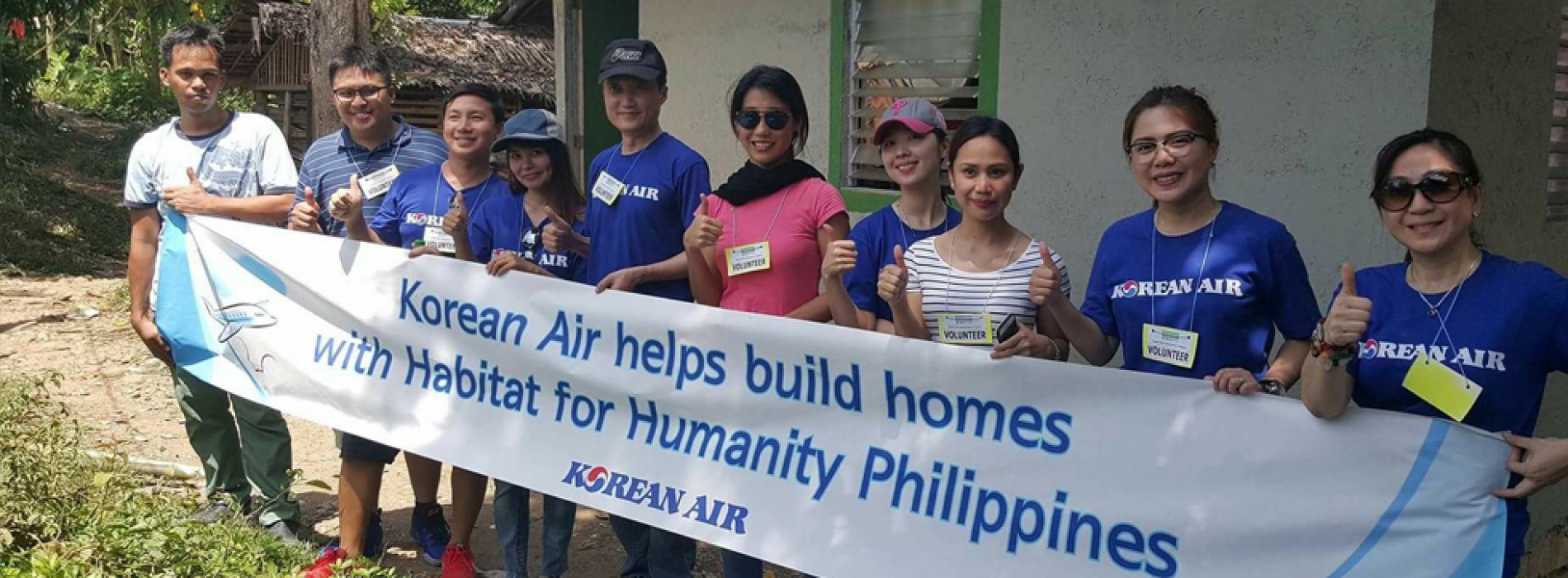 Korean Air supports home building program for the fifth year