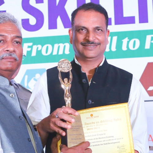 "Frankfinn Air Hostess Training Institute receives the Gold Award for ""Best Higher Vocational Institute for Skill Development""– 2017"