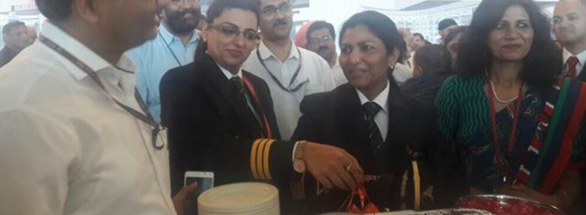 Air India's maiden direct flight to Stockholm with all women crew