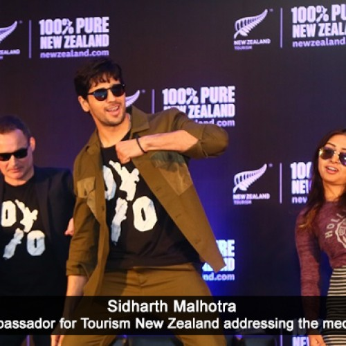 Bollywood actor Sidharth Malhotra recalls his New Zealand escapades to the Pune media