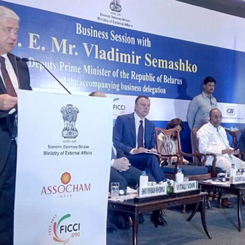 Vladimir Semashko, Deputy PM of Belarus addressed representatives of Indian industry including Tourism industry