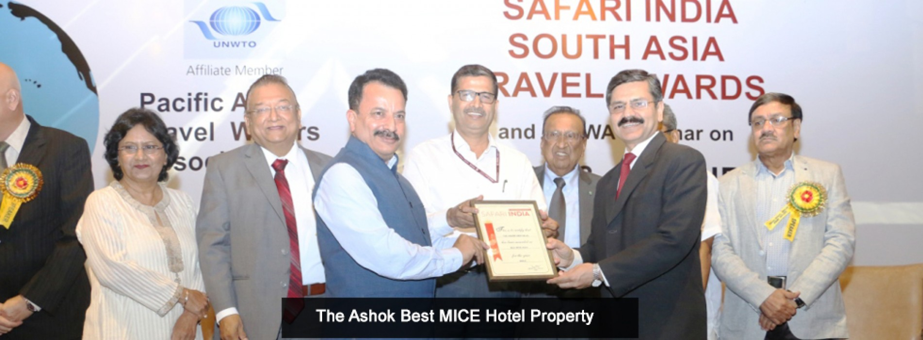 The Ashok wins best MICE hotel at Safari India South Asia Travel Awards 2017