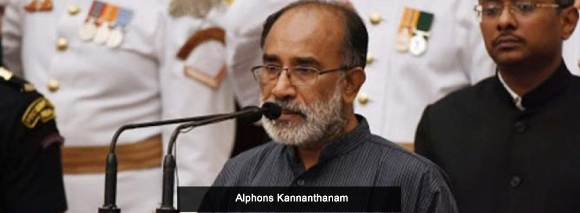 Alphons Kannanthanam appointed as the new Minister of State (I/C) for Tourism