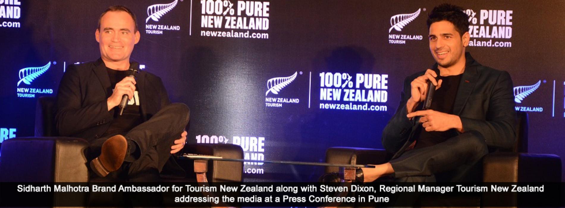 Bollywood actor Sidharth Malhotra recalls his New Zealand escapades to the Pune media