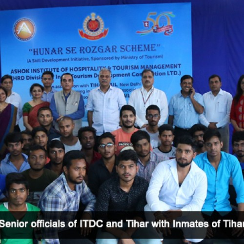 "ITDC steps up for Tihar Jail inmates to train them under ""Hunar se Rozgar Scheme"""