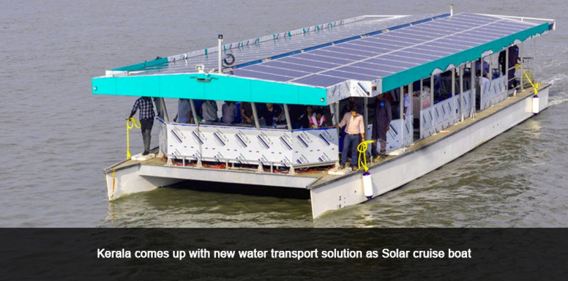Kerala comes up with new water transport solution as Solar cruise boat