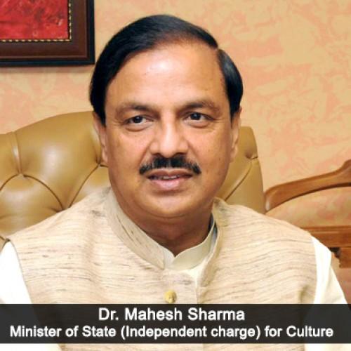 """Dr. Mahesh Sharma releases the book """"Bhartiya Kala Mein Salil Kridayen Evam Sadyahsnata Nayika"""""""