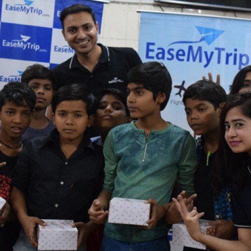 EaseMyTrip celebrated Children's Day with kids of Bal Sahyog