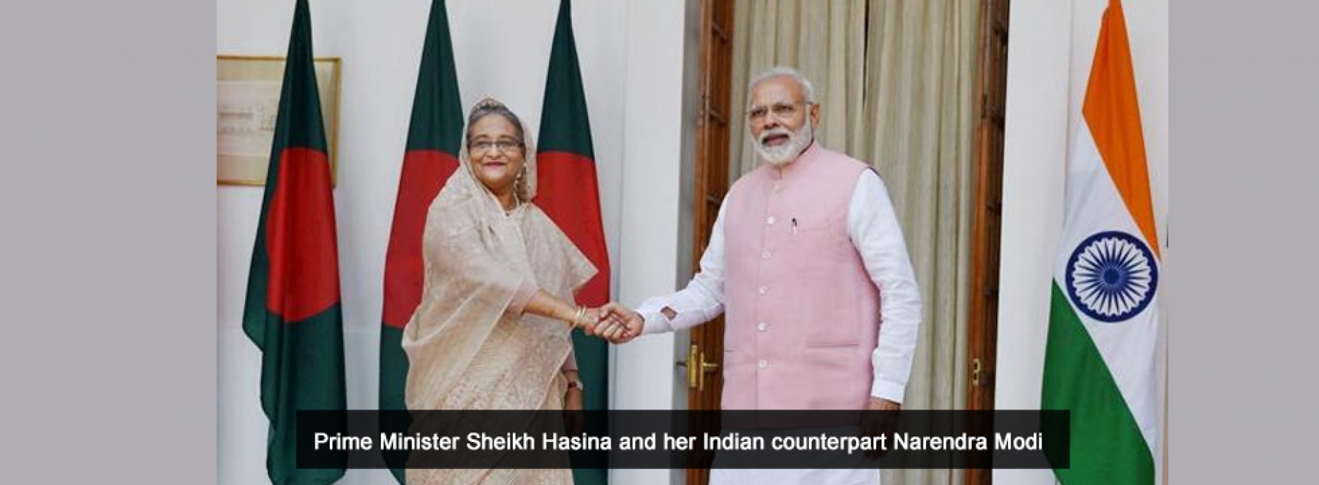 Hasina and Modi launched new cross-country train service