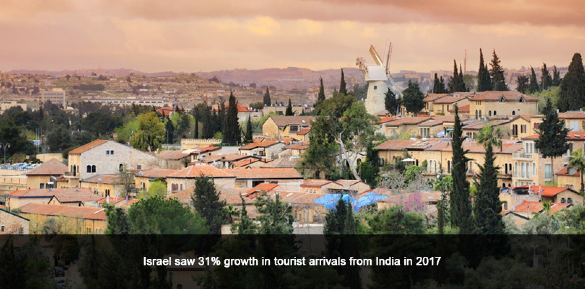 Israel saw 31% growth in tourist arrivals from India in 2017