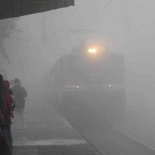 Dense fog in north India delays train services