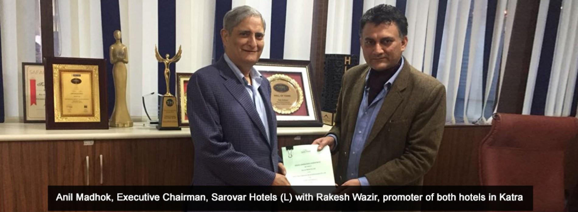 Sarovar Hotels adds another pilgrimage destination to its portfolio