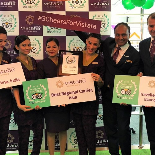 Vistara bags top honours in TripAdvisor's Travellers' Choice Awards