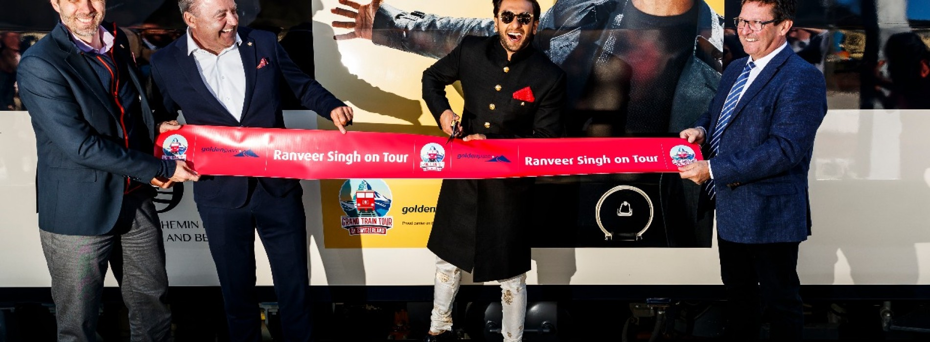 The 'Ranveer on Tour' Golden Pass Line Train takes off in Switzerland