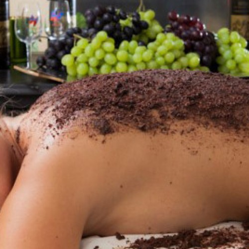 Nilaya Spa offers an intriguing Red Wine Therapy Body Scrub