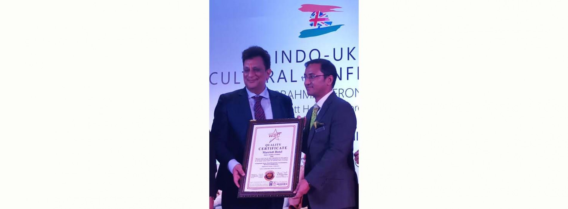 Indore Marriott hotel awarded with 'Quality Certificate' by World Book of Records