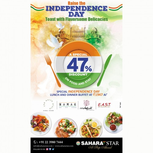 Hotel Sahara Star offers Independence Day deal