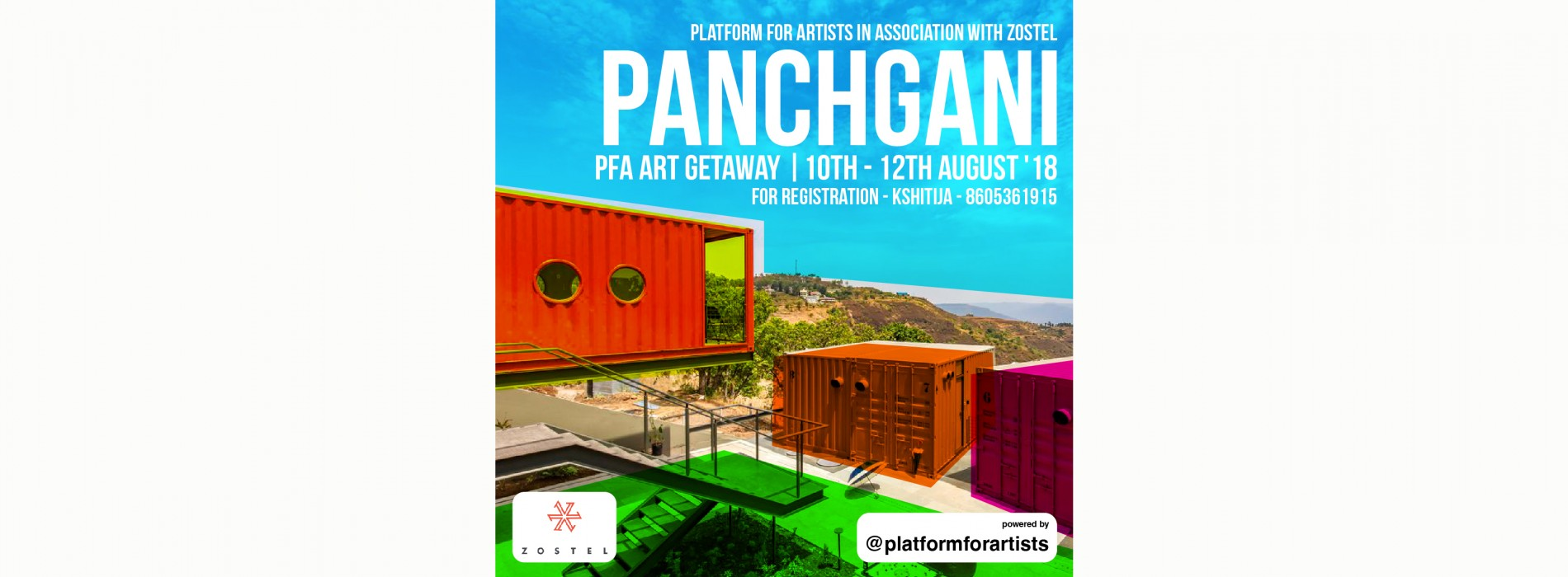 Platform For Artists partners with Zostel for 10th Art Getaway in Panchgani