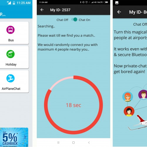 EaseMyTrip introduces a offline chat options with co-passengers in App