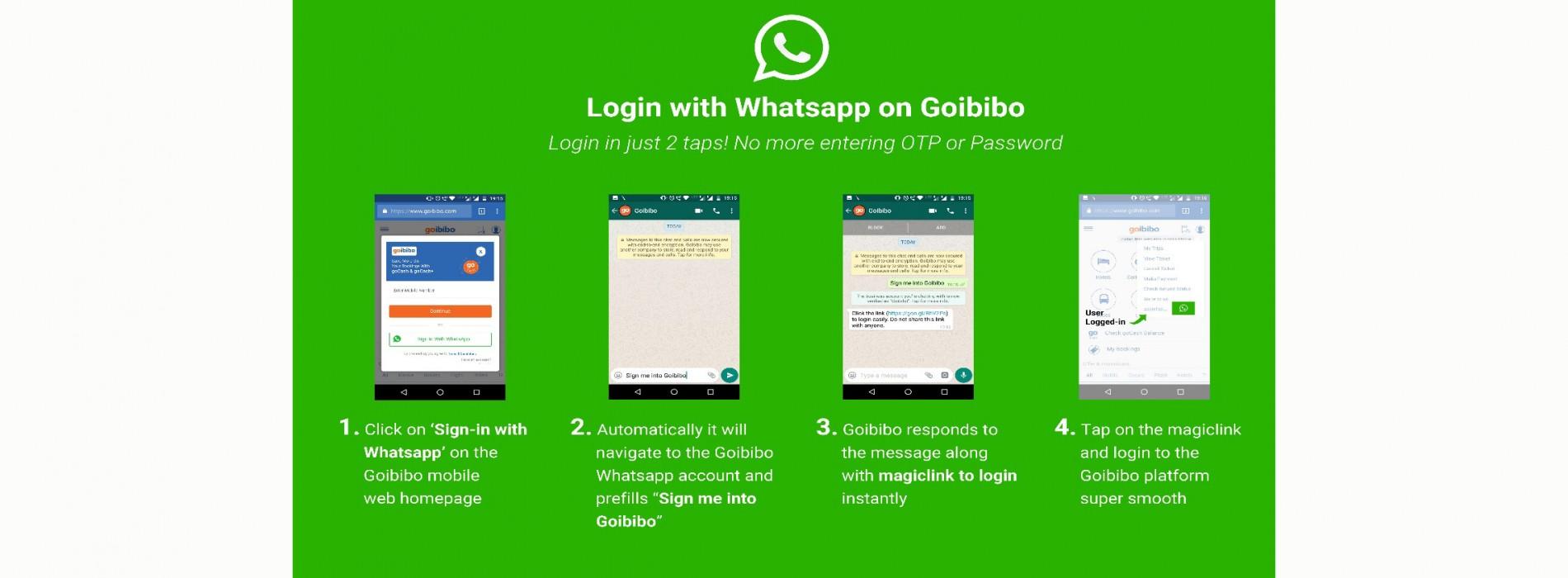 Goibibo introduces new login feature via WhatsApp