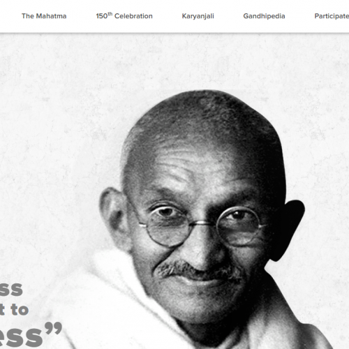 President of India launches the logo and web portal to commemorate 150th birth anniversary of Mahatma Gandhi