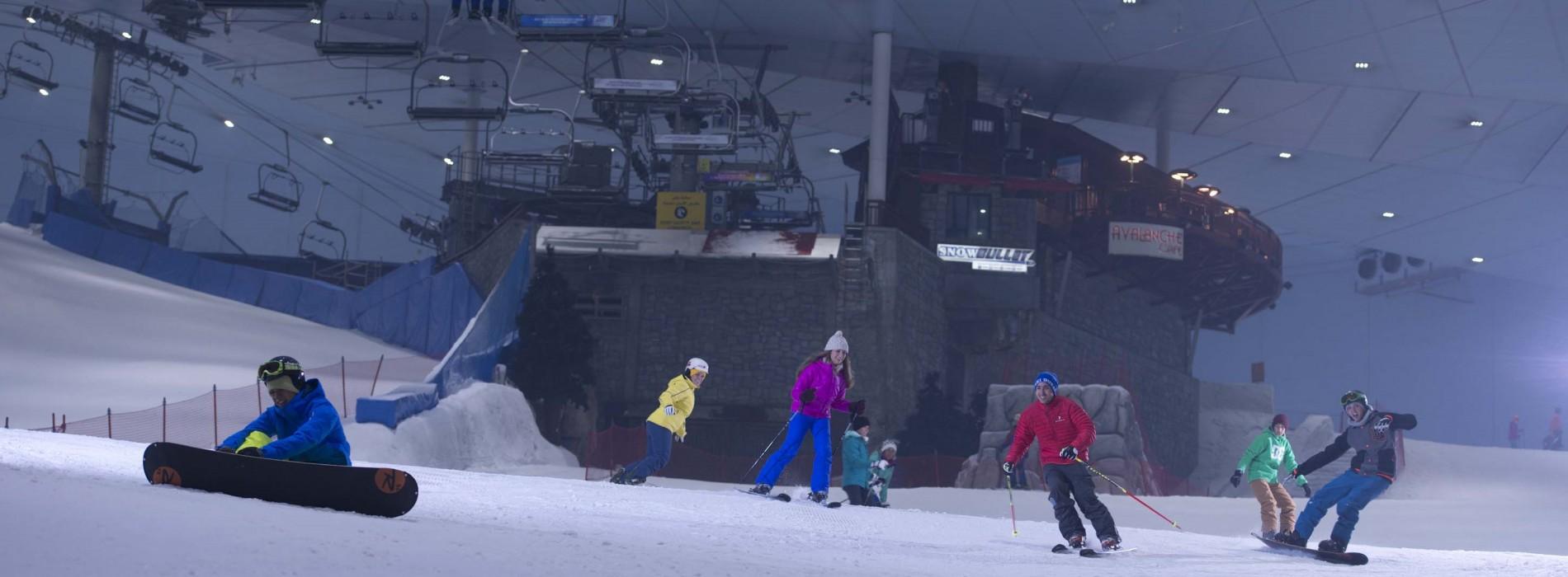 Down through the Snow at Ski Dubai