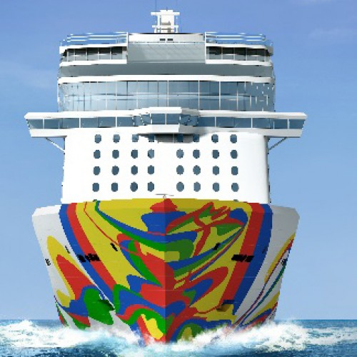 Norwegian Cruise Line unveils Hull Artwork for Norwegian Encore