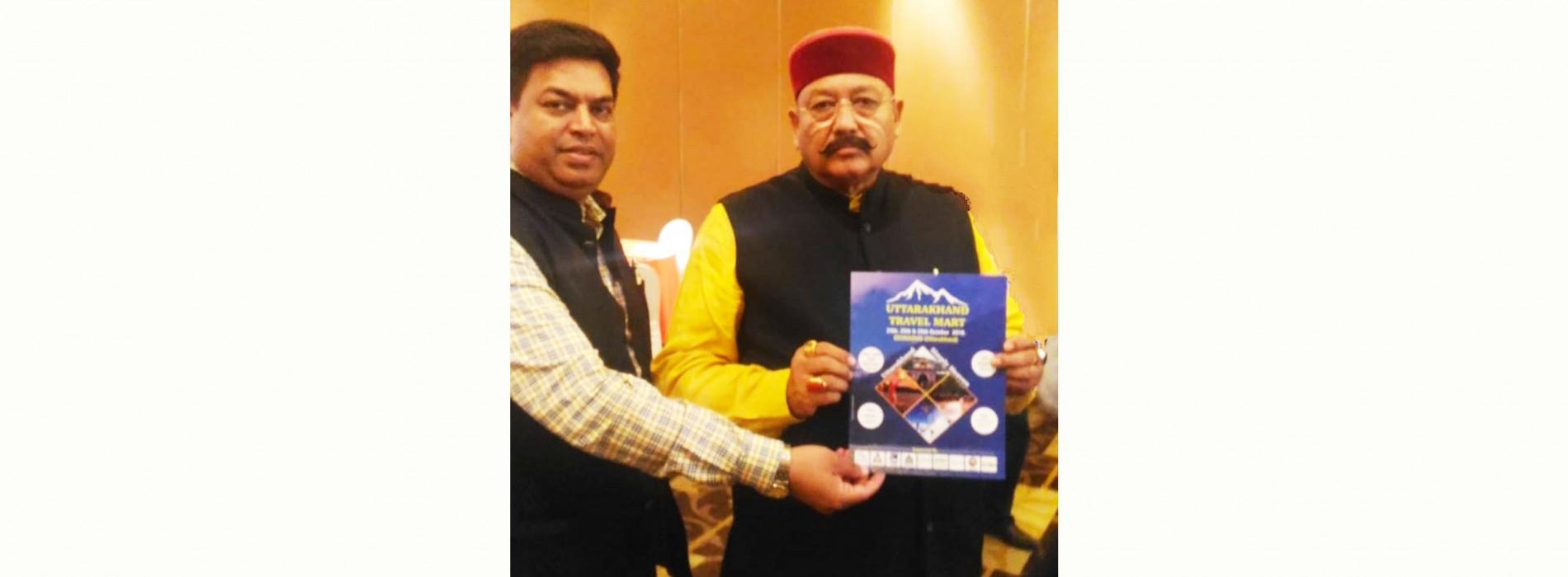 Tourism Minister of Uttarakhand launches UTM Brochure in New Delhi