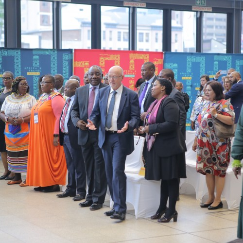South African Minister of Tourism Derek Hanekom inaugurates Indaba 2019